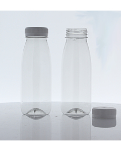 250ml Empty PET Bottles & White Lids - Recyclable
