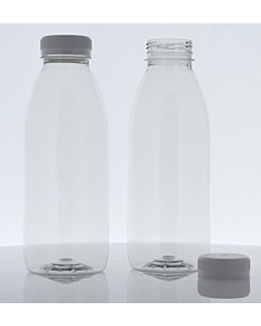 500ml Empty PET Bottles & White Lids - Recyclable