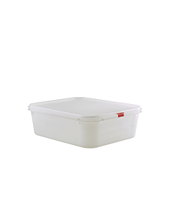 Genware Polypropylene Container 100mm Clear 6.8 Litres