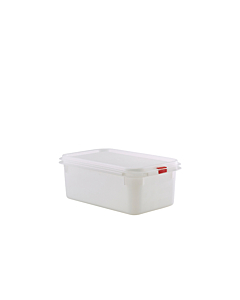 Genware Polypropylene Storage Clear Container 1/4 2.8 Litres