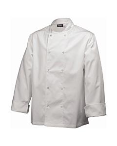 Basic Chef Stud Jacket (Long Sleeve) White Medium