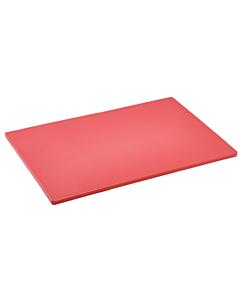 Red Polyethylene Low Density Chopping Board 18x12x0.5 inches