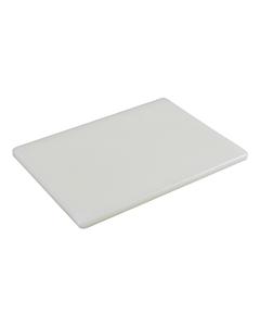 White Polyethylene Low Density Chopping Board 18x12x0.5inches