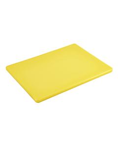 Yellow Polyethylene Low Density Chopping Board 18x12x0.5 inches