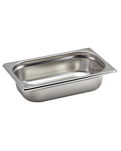 Stainless Steel Gastronorm Pan 1/4 265x163x65mm