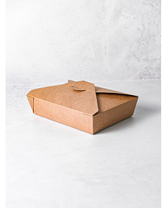 51oz No.2 Brown Food Takeaway Container Compostable Boxes