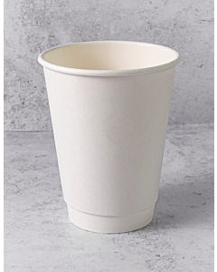 12oz White Double Walled Paper Cups Recyclable