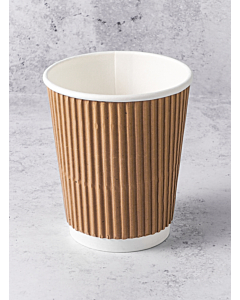 8oz Kraft Ripple Paper Cups Recyclable