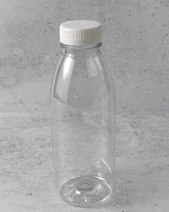 500ml Empty PET Bottles & White Lids - Recyclable