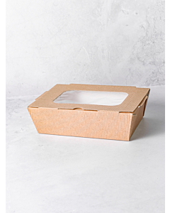 1200g (42.3oz) Large Food to Go Takeaway Taste Boxes - With Window Recyclable