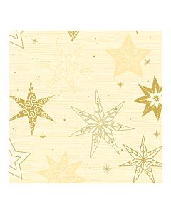 Star Stories Cream Christmas Paper Napkin 40cm 3ply