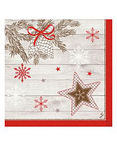 Cozy Winter Christmas Paper Napkins 40cm Classic