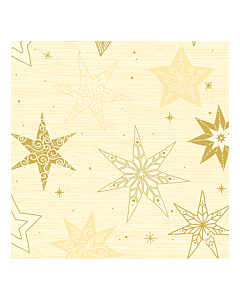 Star Stories Cream Christmas Paper Napkin 40cm Classic