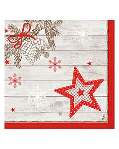 Cozy Winter Christmas Paper Napkins 40cm Dunisoft