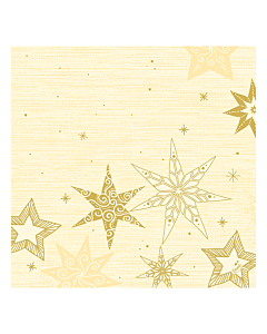 Star Stories Cream Christmas Paper Napkin 40cm