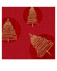 Elegant Trees Christmas Paper Napkins 40cm Dunisoft