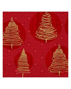 Elegant Trees Christmas Paper Napkin 40cm 3ply