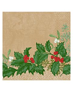 Snowy Berries Christmas Paper Napkin 33cm 3ply