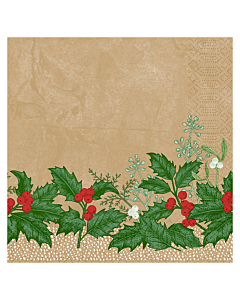 Snowy Berries Christmas Paper Napkins 40cm 3ply