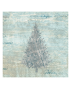 Blue Winter Christmas Paper Napkin 33cm 3ply
