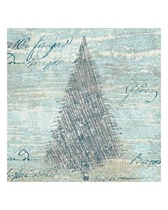 Blue Winter Christmas Paper Napkins 24cm 3ply