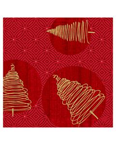 Elegant Trees Christmas Paper Napkins 40cm Classic
