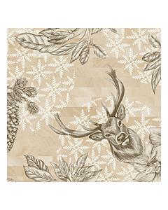 Wild Deer Christmas Paper Napkin 33cm 3ply