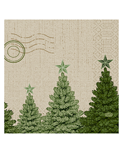 Fir Forest Christmas Paper Napkin 33cm 3ply