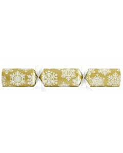 "14""Gold/White Raised Snowflake Cracker"